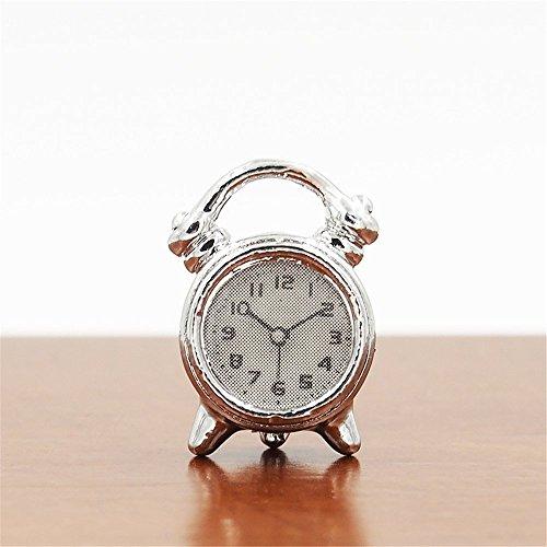 Odoria 112 Miniature Silver Alarm Clock Dollhouse Accessories For Livingroom Bedroom