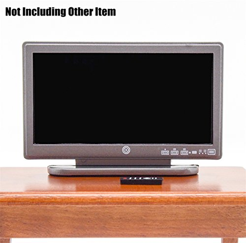 Odoria 112 Miniature Television TV Wide Screen with Remote Control Dollhouse Furniture Accessories