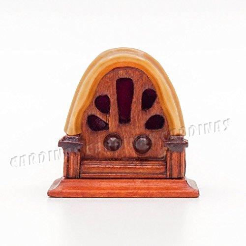 Odoria 112 Miniature Vintage Antique Radio Dollhouse Decoration Accessories