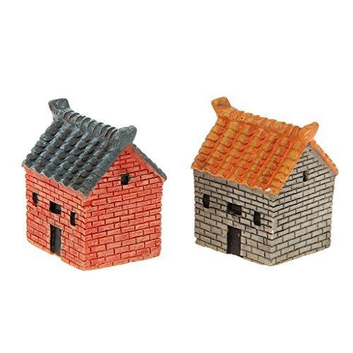 No brand goods miniature dollhouse interior miniature garden for resin bonsai craft garden landscape decoration props House