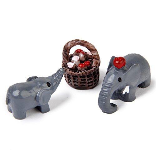 No brand goods miniature dollhouse interior resin bonsai craft garden landscape decoration props DIY elephant