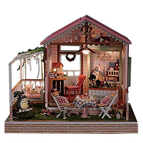Rylai Wooden Handmade Dollhouse Miniature DIY Kit - Dreamland Series Dollhouses For Girls Wood Room FurnitureAccessories