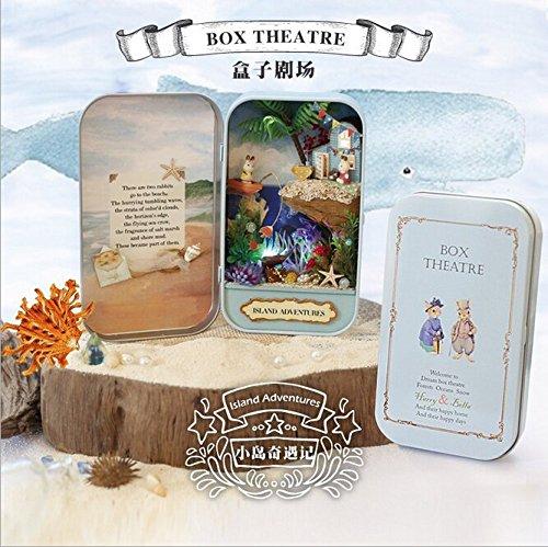 Youku Wooden Handmade Dollhouse Miniature DIY Kit- Cases Model Furniture