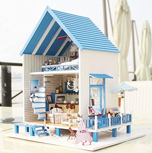 Youku Wooden Handmade Dollhouse Miniature DIY Kit- Paris coffee and cake shop Model FurnitureParts 124 Scale Dollhouse