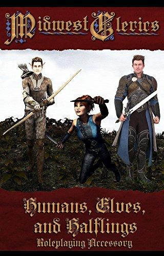Humans Elves Halflings - Plastic RPG Miniature Pawns