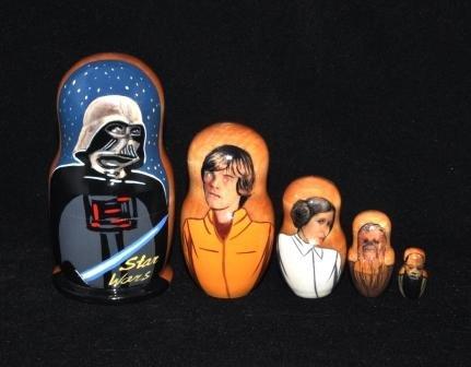 Star Wars 1 5 pcs Russian Matryoshka Nesting Doll