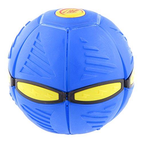 Kids Novelty Toy Phlat Ball Throw A Disc Catch A Ball Outdoor Game PVC Blue