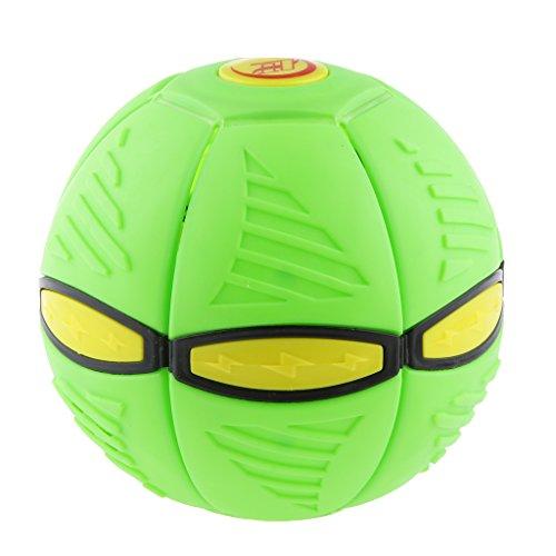 Kids Novelty Toy Phlat Ball Throw A Disc Catch A Ball Outdoor Game PVC Green