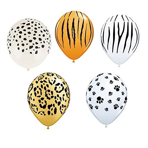 50100Pcs 12Inch Leopard Pattern Balloons Tiger Zebra Latex Baby Birthday Theme Party Animal Latex Balloon Decor Kids Toys BallsMix 5 Style Set 2100Pcs