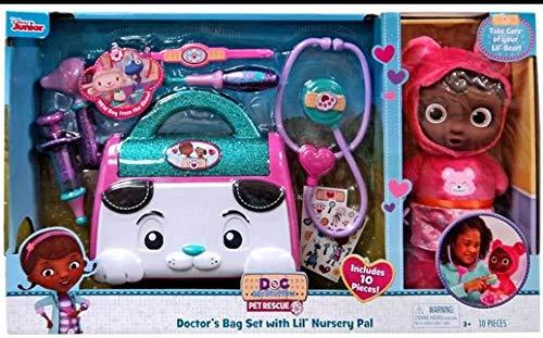 Disney Just Play Doc McStuffins Pet Rescue Doctors Bag Set with Lil Nursery Pal Exclusive Playset