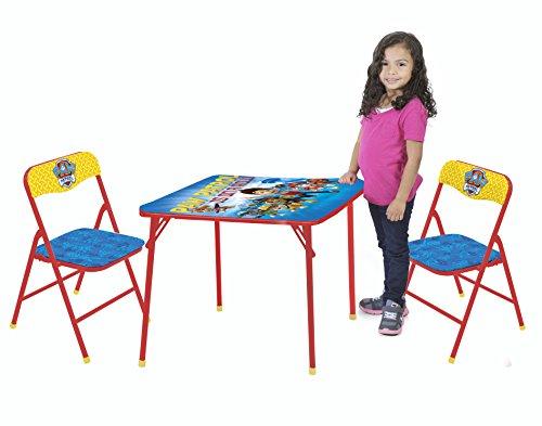 Nickelodeon Paw Patrol 3-Piece Kids Table Chair Set Toy