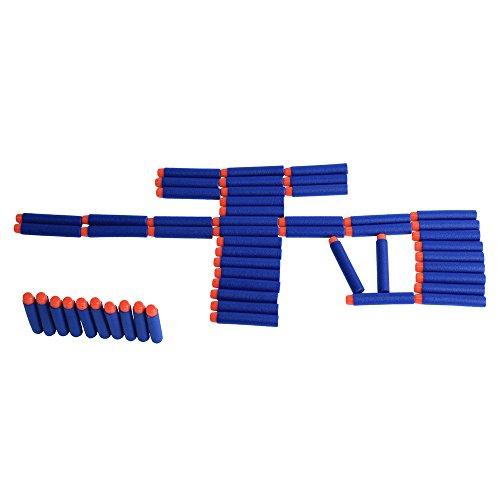 AZLife 72cm Hollow Warhead Darts Refill for Foam Dart Blasters Series Toy Gun Blue Pack of 100