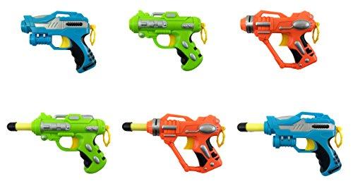 Mini Foam Dart Blaster Guns Multi Pack Party Favors Set of 6
