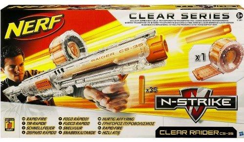 Nerf N-Strike Raider Rapid Fire CS-35 Dart Blaster - Clear Series
