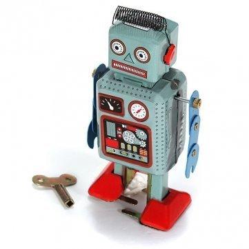 Clockwork Windup Metal Walking Tin Toy Robot Retro Kids Gift DDStore by DDStore