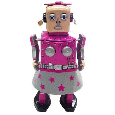 Venus Robot Girl Metal Robot Winds Up Tin Toy Collection 55