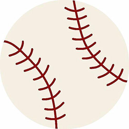Furnishmyplace Baseball Kids Rug Round