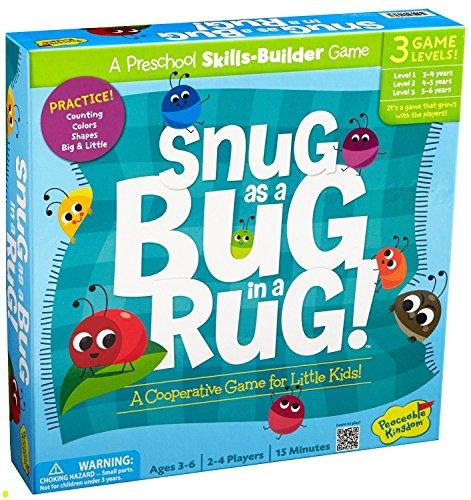 Peaceable Kingdom Snug as a Bug in a Rug Award Winning Preschool Skills Builder Game