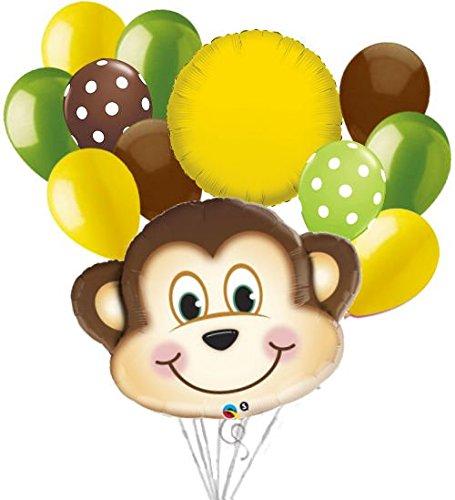 12 pc Mischevious Monkey Balloon Bouquet Party Decoration Boy Birthday Animal