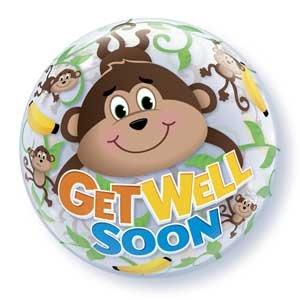 22 Bubble Get Well Soon Monkeys Balloon