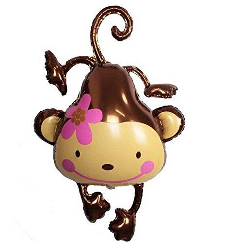 Flower Monkey Balloon Foil Balloons Wedding Party Supplies^