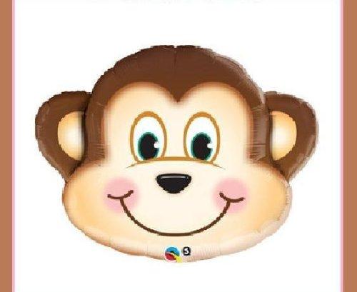 JUMBO 30 MONKEY BALLOON XL jungle safari party supplies decorations baby shower
