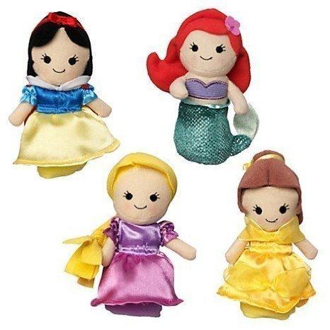 Disney Princess Finger Puppet Set - Snow White Ariel Rapunzel and Belle