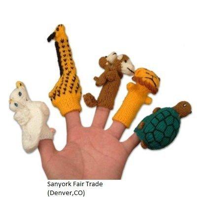 Fair Trade Peruvian Finger Puppets Set of 5 Assortment Birds Animals Insects