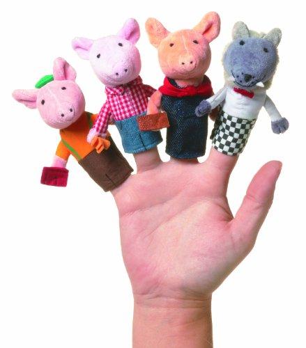 Manhattan Toy Storytime Three Little Pigs Finger Puppet Set