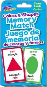 Shapes Colors Memory MatchJuego de memoria de colores y formas Challenge Cards