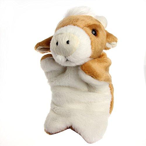 Magicub Kids Animal Hand Finger Puppet Plush Bull Doll Baby Development Teaching Toy 1