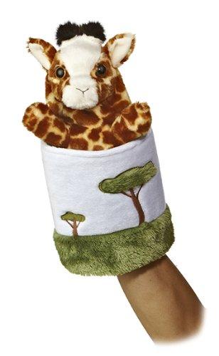 Aurora World Pop Up Giraffe 11 Plush Puppet