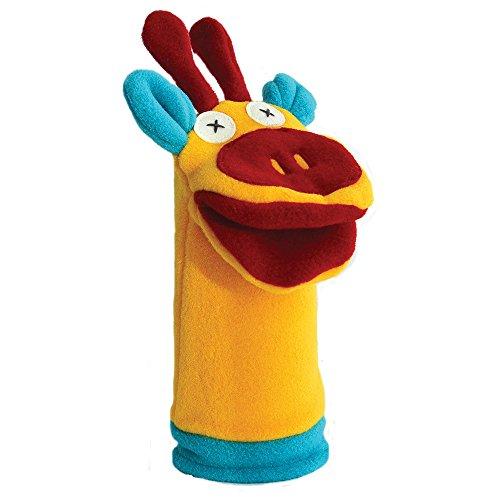 Cate and Levi 12 Handmade Softy Giraffe Hand Puppet 100 USA Polar Fleece