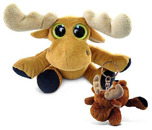 Puzzled Plush Moose - Big Eye 6 Inch and Keychain