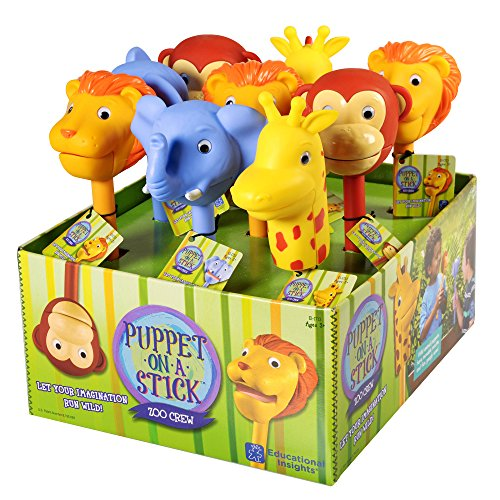 Educational Insights Puppet-On-A-Stick Zoo Crew Display Toy