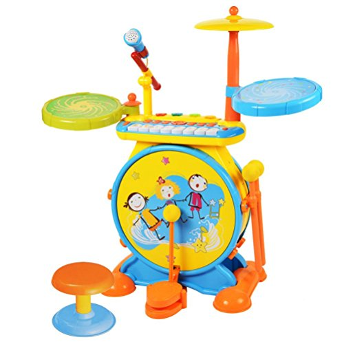 Education toysMandy Childrens Games Jazz Drum Percussion Hand On Combination Instrument Toys