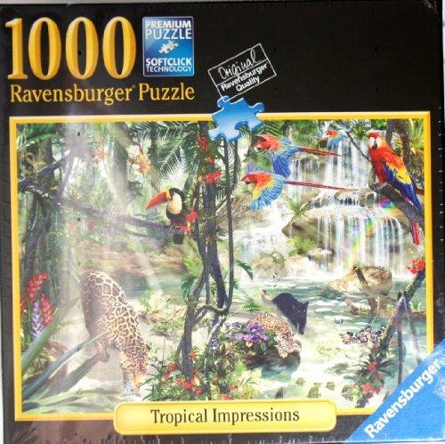 Ravensburger Puzzle TROPICAL IMPRESSIONS 1000 Piece Puzzle 27 X 20
