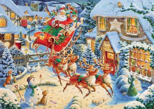 Ravensburger Santas Flying Visit - 1000 Pieces Christmas Puzzle