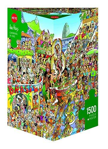 Heye Carnival in Rio 1500 Piece Hugo Prades Jigsaw Puzzle