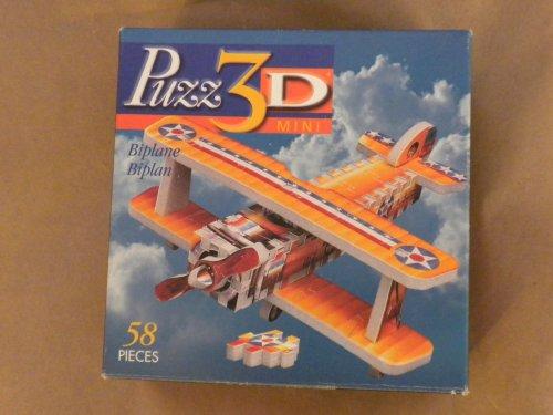 Puzz 3D Miniature Biplane by Wrebbit