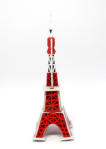 Fonzafba Mini 3D Puzzles Architecture Tokyo Tower Easy for Baby 3 Years and More Mini Size 19 x 55