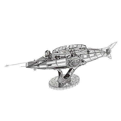 2018 MoTu 3D Metal Puzzle The Nautilus Submarine Assemble Model Kits C12202 DIY 3D Laser Cut Jigsaw Toys