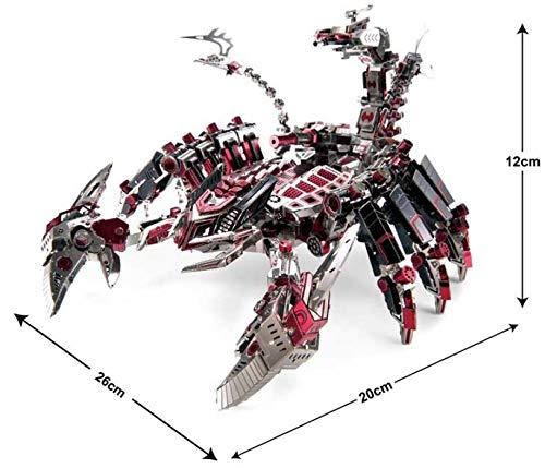Microworld Red Devils Scorpion 3D Metal Puzzle DIY Assemble Model Building Kits Laser Cut Jigsaw Toy D003