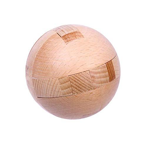Ahyuan Big Wooden Ball Puzzle 3D Wooden Brain Teaser 3D Wooden Puzzles for Adults Wooden Brain Teaser Puzzles Wooden Brain Teasers for Child