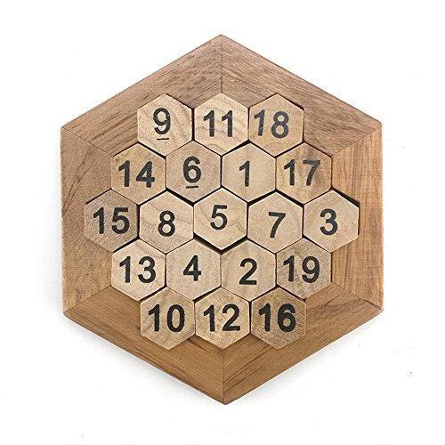 SHUYUE Kids Wooden Number Logic Puzzle Children Brain Teasers Child Intelligence Educational IQ Toys