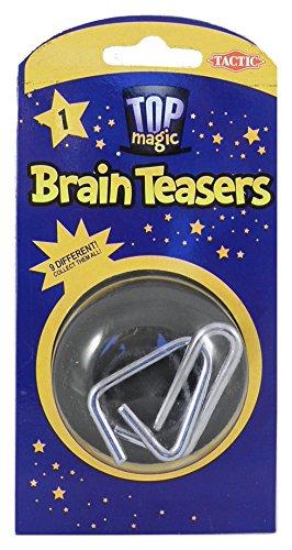 Tactic 41202  Brain Teasers Metal Puzzles  Magic Set Children Adults