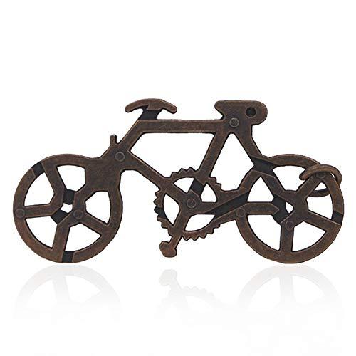 Yinpinxinmao Vintage Metal Bike Maze Puzzle IQ Brain Teaser Children Adult Educational Toy