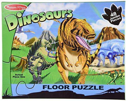 Melissa Doug Land of Dinosaurs Floor Puzzle 48 pcs 4 feet long