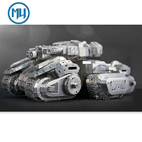 MU 3D Metal Puzzle Starcraft Terran Vehicle Siege Tank SAST-N01 DIY 3D Metal Puzzle Kits Laser Cut Models Jigsaw Toys