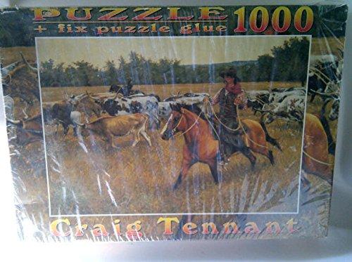 CRAIG TENNANT JIGSAW PUZZLE UNDER A YELLOW SKY 1000 PIECE Fix Puzzle Glue 27 X 19 Inch